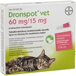 Dronspot vet Spot-on, lösning 60mg/15mg Pipett i blisterförpackning, 2st (2x0,70ml)