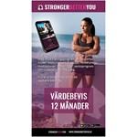 Stronger Better You Hälso & Träningsapp Värdebevis 12 månader