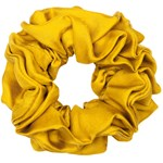 Hermine Hold Solid Silk Scrunchie Gul
