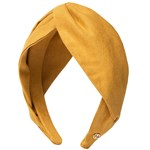 Hermine Hold Suede Knot Head Band Gul