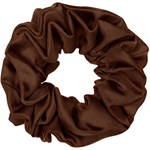 Hermine Hold Solid Silk Scrunchie Brun