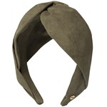 Hermine Hold Suede Knot Head Band Grön