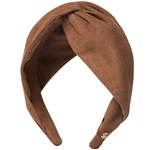 Hermine Hold Suede Knot Head Band Brun