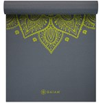 Gaiam Yoga Mat 6 mm Printed Citron Sundial