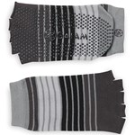 Gaiam Toeless Yoga Socks Grey/Black/Lt Grey