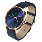 Withings Move Timeless Chic Blue Leather/Rose Gold