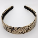 Add A Little Something Headband Pu Snake Beige