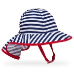 Sunday Afternoons Infant Sun Sprout Hat One Size Navy Stripe