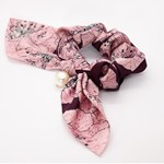 Add A Little Something Bow Scrunchie Pailsey Pink