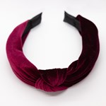 Add A Little Something Headband Knot Velvet Fuchsia