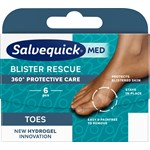 Salvequick MED Blister Rescue Toes skoskavsplåster 6 st