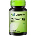 Great Earth Vitamin B3 Niacin 500 mg 60 tabletter
