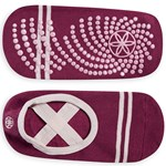 Gaiam Grippy Yoga Barre Socks Mulberry