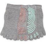 Gaiam Grippy Yoga Socks Plaster/Mint 2-pack
