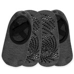Gaiam Grippy Yoga Barre Socks Granite 2-pack