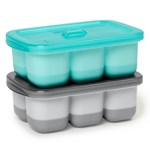 Skip Hop Easy-Fill Portionsform 2-pack Grå/Turkos