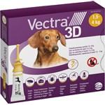 Vectra 3D för hund 1,5-4 kg Spot-on lösning Pipett, 3st (3x0,8ml)