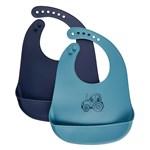 Celavi Silicon Bib Smoke Blue 2-pack