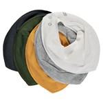 Pippi Bandana Bib Solid Marsmallow White 5-pack