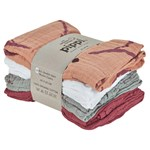 Pippi Organic Cloth Muslin Misty Rose 8-pack