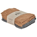 Pippi Organic Cloth Muslin Indian Tan 4-pack