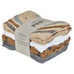 Pippi Organic Cloth Muslin Sandshell 8-pack