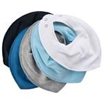 Pippi Bandana Bib Solid Light Blue 5-pack