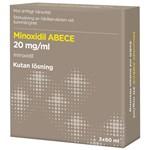 Minoxidil ABECE Kutan lösning 20mg/ml Flaska, 3x60ml