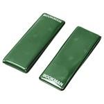 Bookman Clip-On Reflectors Green 2-pack