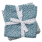 Done by Deer Burp Cloth Happy Dots Blue 2-pack