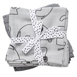 Done by Deer Burp Cloth Contour Grey 2-pack