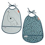 Done by Deer Bib Elphee Blue 2-pack
