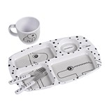 Done by Deer Toddler Dinner Set Happy Dots Grey