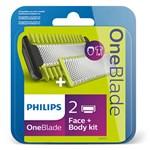 Philips OneBlade QP620/50 Ersättningsrakblad 1 Face 1 Body