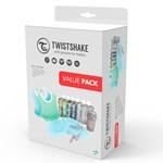 Twistshake Tableware Bundle Lära Äta-kit Blå 14 delar