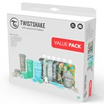 Twistshake Bottle Bundle lära dricka-kit 16 delar Blå