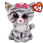 Ty Beanie Boos Kiki Grey Cat Regular