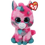 Ty Beanie Boos Gumball Unicorn Pink/Aqua Medium