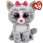 Ty Beanie Boos Kiki Grey Cat Medium