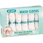 2B Baby Tvättlappar Bambu Vit 6-pack