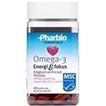 Pharbio Essentials Omega-3 Energi & Fokus 60 st