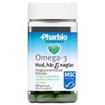 Pharbio Essentials Omega-3 Hud, hår & naglar 60 st