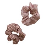 Add A Little Something Scrunchie Dot/Square Pink 2-pack