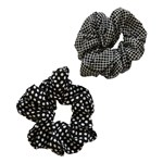 Add A Little Something Scrunchie Dot/Square Black 2-pack