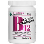 BioSalma B12-vitamin 1 mg + Folsyra 100 st tuggtabletter