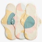 ImseVimse Sanitary Pads Active Night Pastel Hoop 3-pack