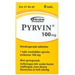 Pyrvin Filmdragerad tablett 100mg behandling mot springmask Burk 6 tabletter