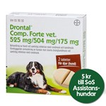 Drontal Comp. Forte vet. tablett 525 mg/504 mg/175 mg 2 st