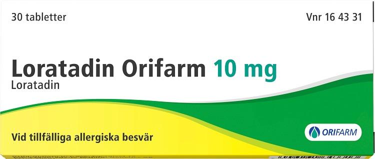 Loratadin Orifarm tablett 10 mg 30 st