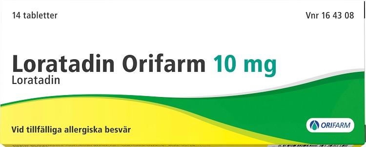 Loratadin Orifarm tablett 10 mg 14 st